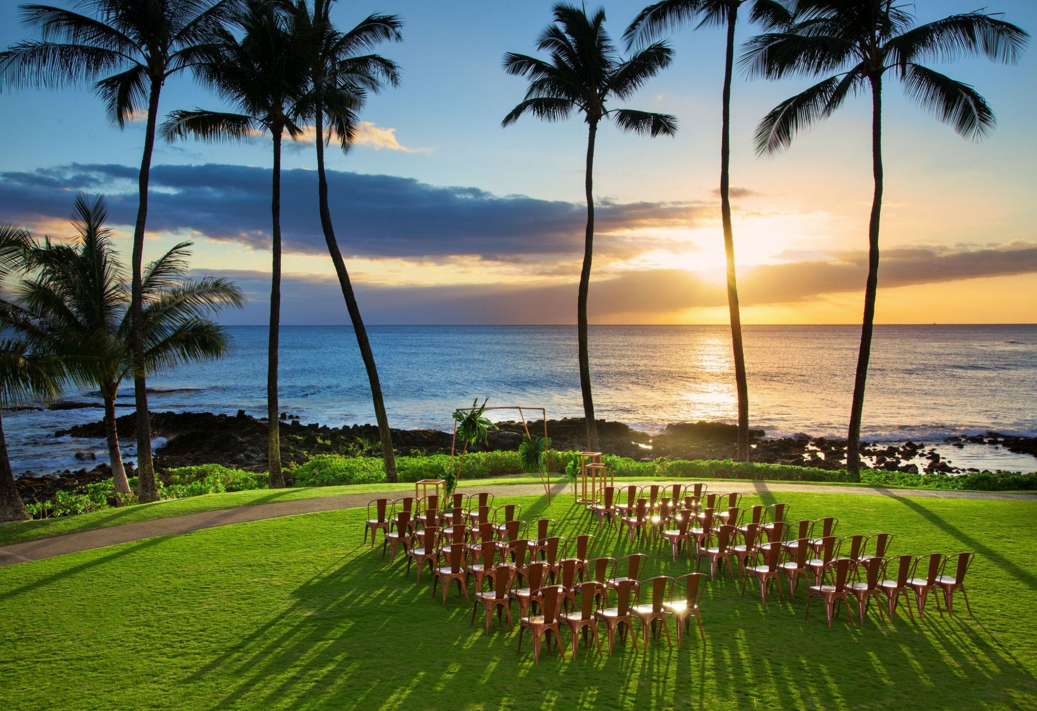 Kauai Beach Wedding - Ocean Lawn